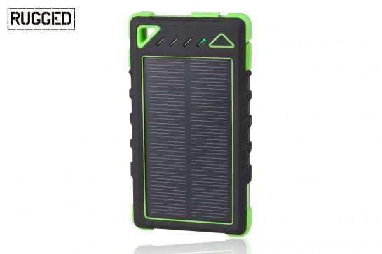 Akumulator przenośny RUGGED SPB-8000 z panelem słonecznym